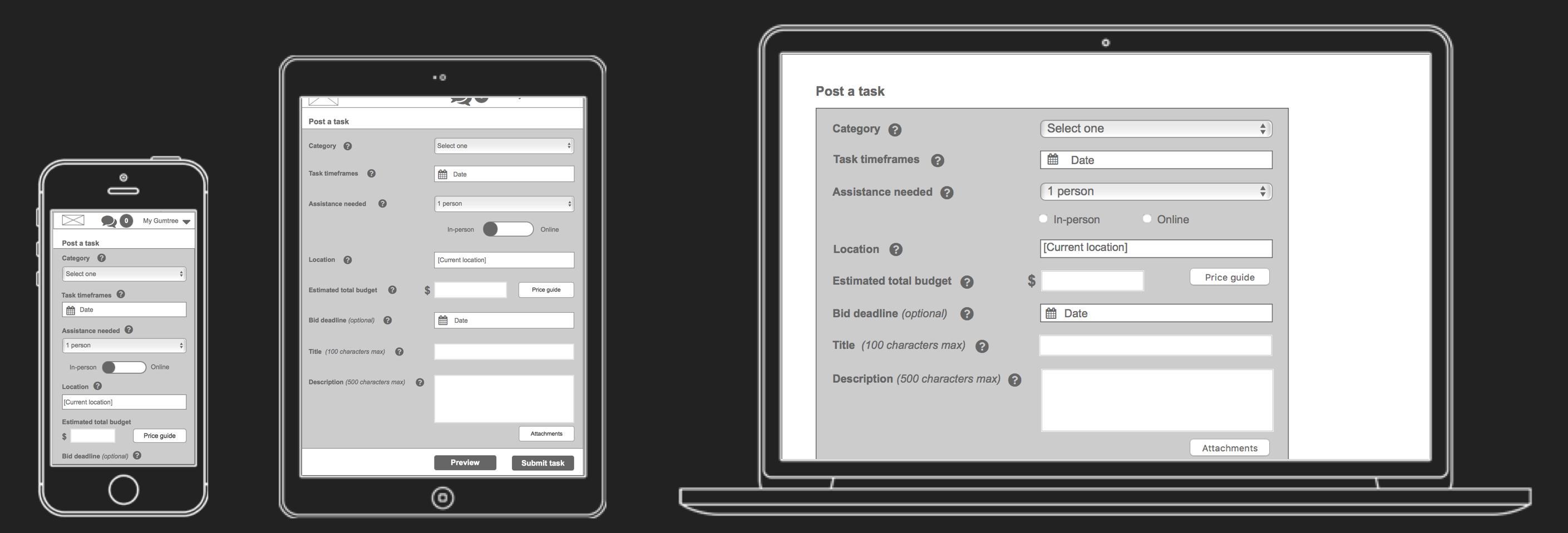 Gumtree responsive design